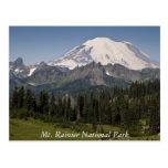 Postal del parque nacional del Monte Rainier