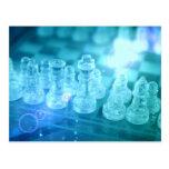 Postal del partido del ajedrez