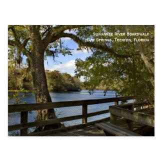 Postal del paseo marítimo del río de Suwannee