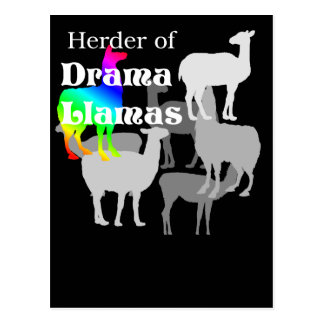 Postal del pastor de la llama del drama