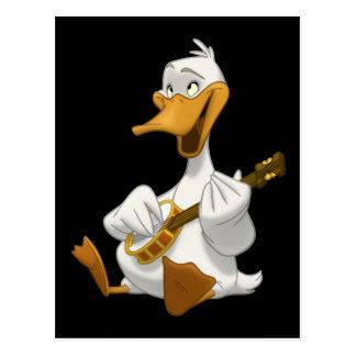 Postal del pato del Banjo-Strummin'