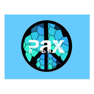 Postal del Pax del símbolo de paz