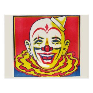Postal del payaso de circo
