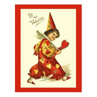 Postal del payaso de la tarjeta del día de San Val