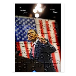 Postal del pedazo del rompecabezas de Obama