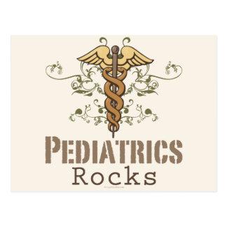 Postal del pediatra de la roca de la pediatría