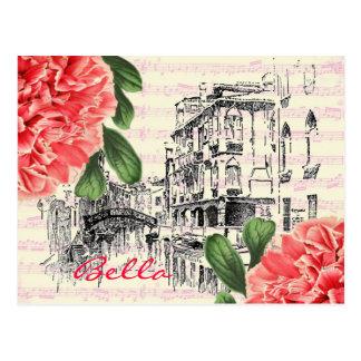 Postal del peony de Bella Italia