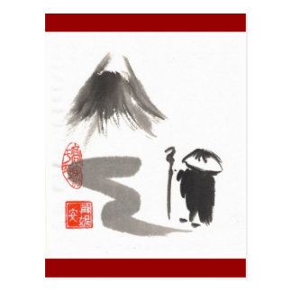 Postal del peregrino del zen