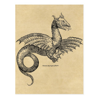 Postal del pergamino del dragón