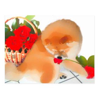 Postal del perro chino del heARTdog de RENY
