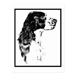 Postal del perro de aguas de saltador inglés del a