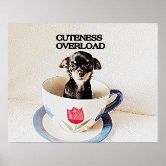 Postal del perro de la ji de la sobrecarga del Cut Posters
