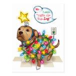 Postal del perro de Yule