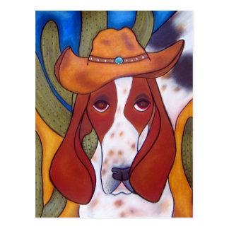 postal del perro del desierto de Bungalowart.com