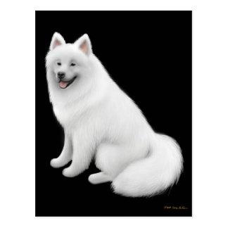Postal del perro del samoyedo