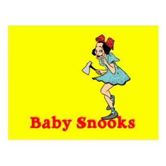 Postal del personalizable de los Snooks del bebé