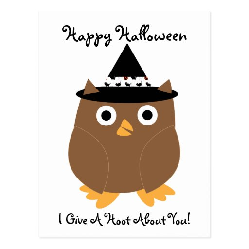Postal del personalizable del búho de Halloween