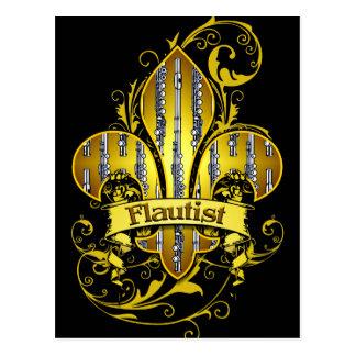 Postal del personalizado de Fleur de flute
