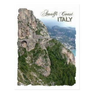 Postal del personalizado de la costa de Amalfi