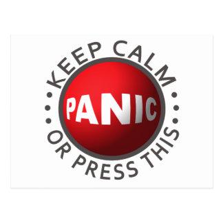 Postal del personalizado del botón de pánico