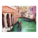 Postal del personalizado del canal de Venecia