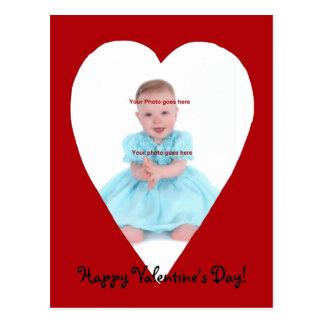 Postal del photocard del corazón de la tarjeta del