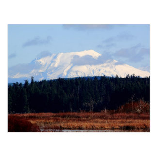 Postal del pico nevado del Monte Saint Helens