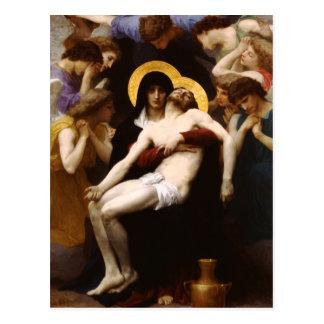 Postal del Pieta de Bouguereau