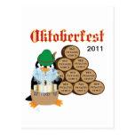 Postal del pingüino de Oktoberfest