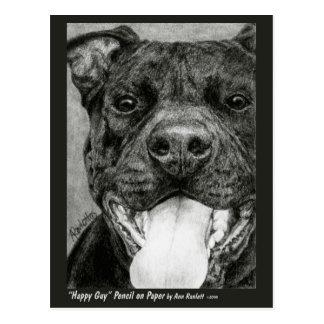 "Postal del pitbull - ""individuo feliz """