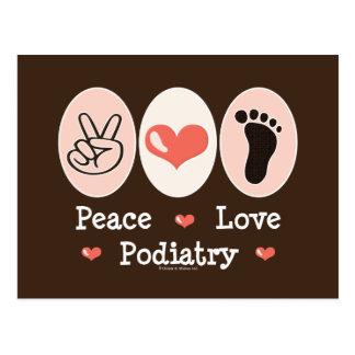 Postal del Podiatrist del Podiatry del amor de la