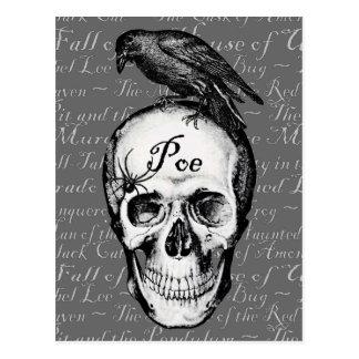 Postal del Poe del cuervo
