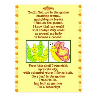 Postal del poema de Caterpillar