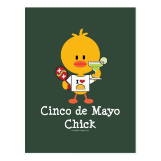 Postal del polluelo de Cinco de Mayo