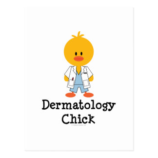 Postal del polluelo de la dermatología