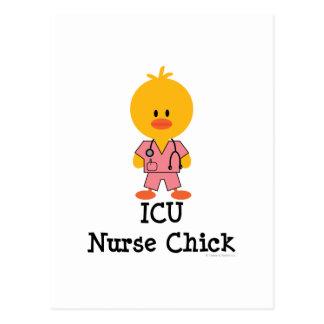 Postal del polluelo de la enfermera de ICU