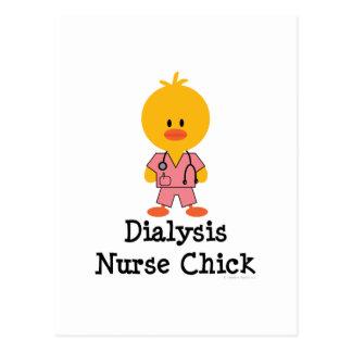 Postal del polluelo de la enfermera de la diálisis