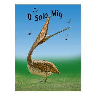 Postal del polluelo de la grúa del canto Sandhill