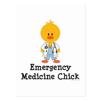 Postal del polluelo de la medicina de la emergenci