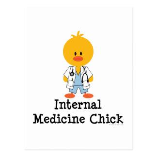 Postal del polluelo de la medicina interna