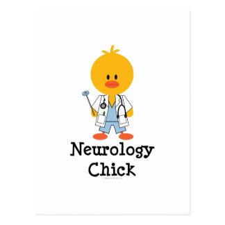 Postal del polluelo de la neurología