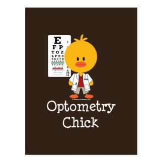 Postal del polluelo de la optometría