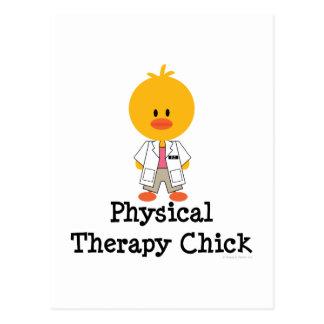 Postal del polluelo de la terapia física