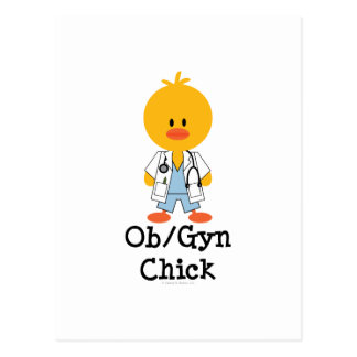Postal del polluelo de OB GYN