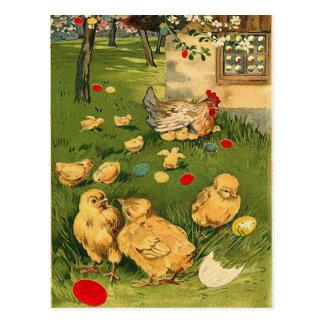 Postal del polluelo de Pascua del vintage