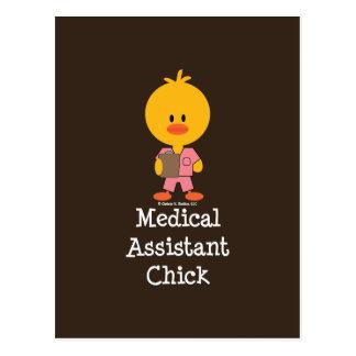 Postal del polluelo del auxiliar médico