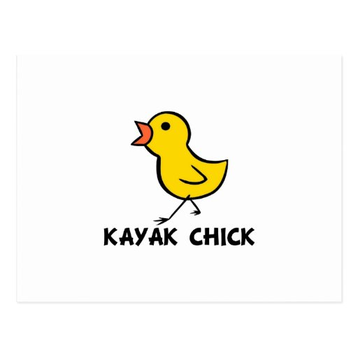 Postal del polluelo del kajak