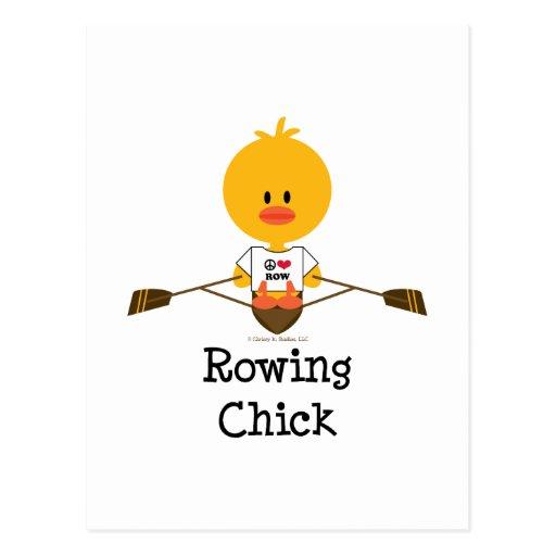 Postal del polluelo del Rowing