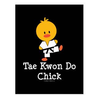 Postal del polluelo del Taekwondo