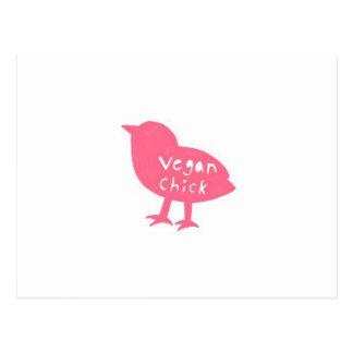 postal del polluelo del vegano